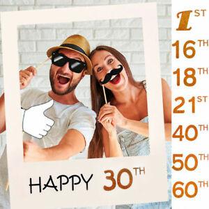 30-50ans-Joyeux-Anniversaire-Fete-Cadre-De-Papier-Anniversaire-Booth-Photo-Props