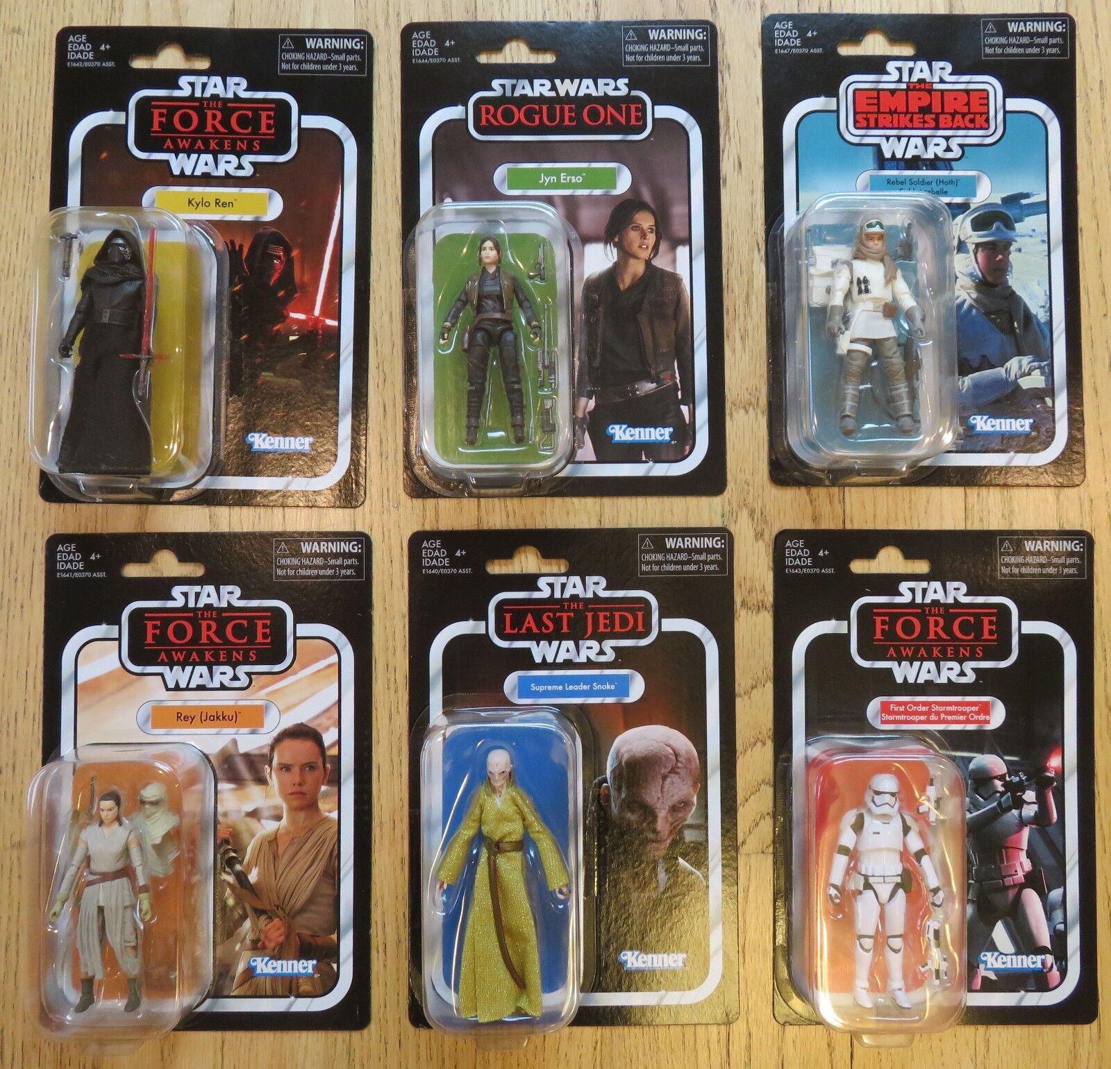 Star Wars Vintage Collection 2018 Wave 1 Complete Set of 6 Figures, New, In Hand