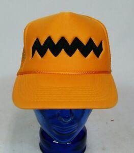 NOS Vintage 80s 90s Charlie Brown Snoopy Snapback trucker Rope Hat ... 52b2726172f5