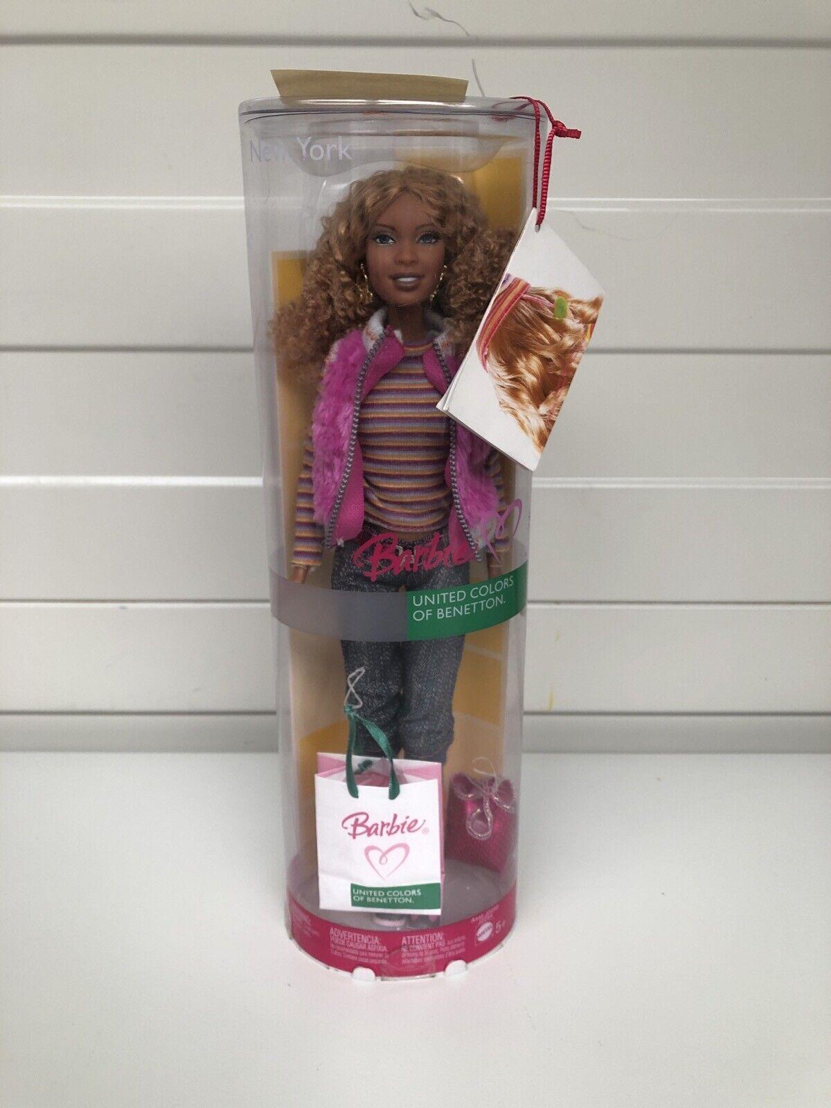 Barbie New York United Farbes of Benetton Doll NEU OVP