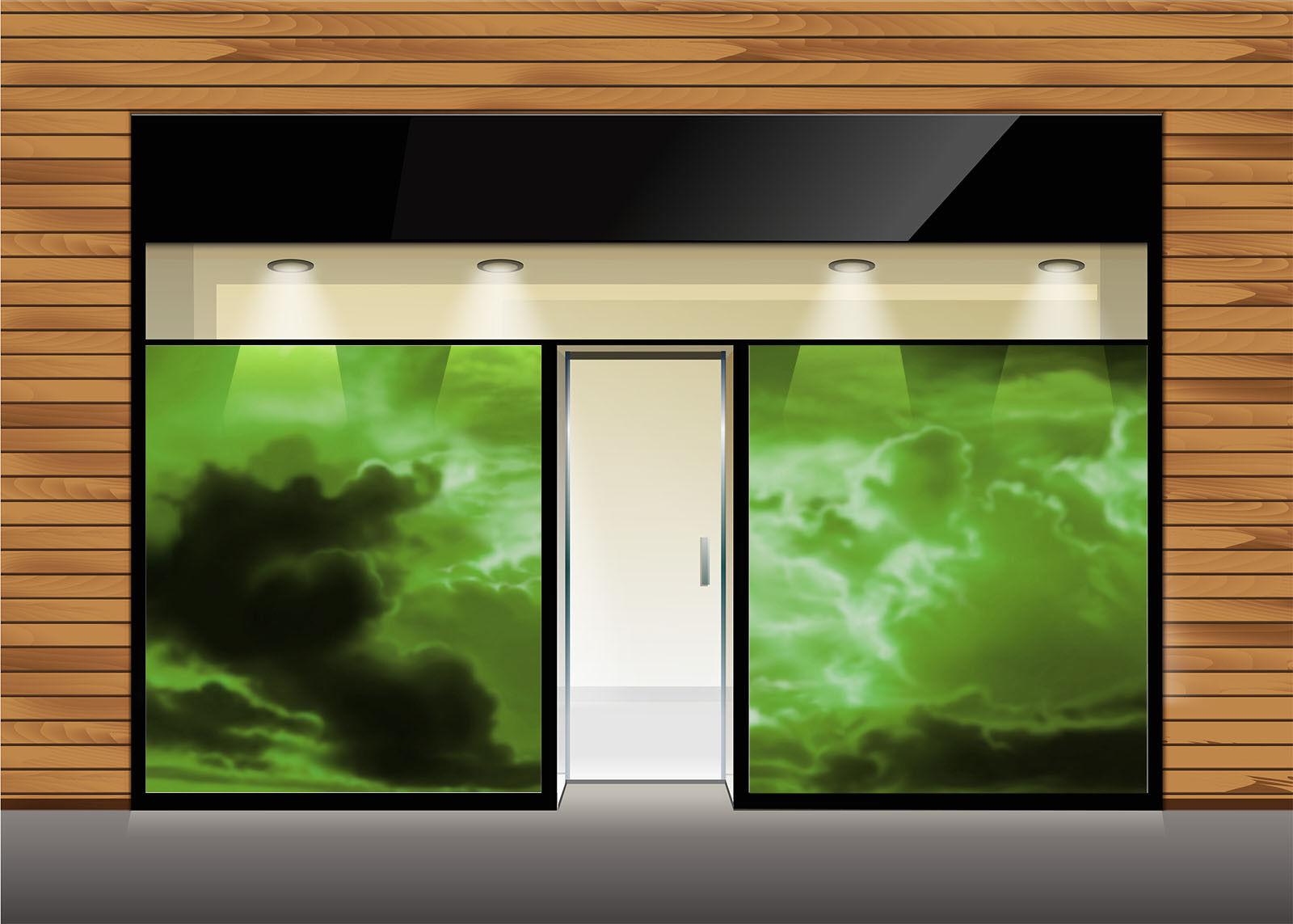 3D greenen Wolken Himmel 754 Tapete Wandgemälde Tapete Tapeten Bild Familie DE