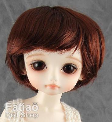 """Fatiao New BJD Dollfie Pocket puki 3-4/"""" Dolls Wig Chocolate"""