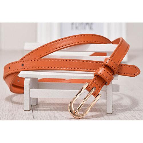 Cintura Donna Pelle Cuoio Classica Sportiva