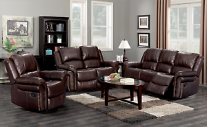 Phenomenal Details About Bonded Leather Double Recliner Reclining Sofa Loveseat Living Room Furniture Beutiful Home Inspiration Cosmmahrainfo