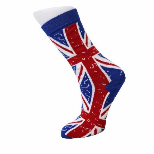 Women/'s Ankle Socks  Union Jack British Flag Design Cotton Rich