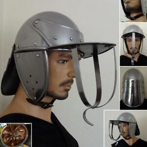 English Civil War Lobster Tailed Pot Helmet Stage Costume Re