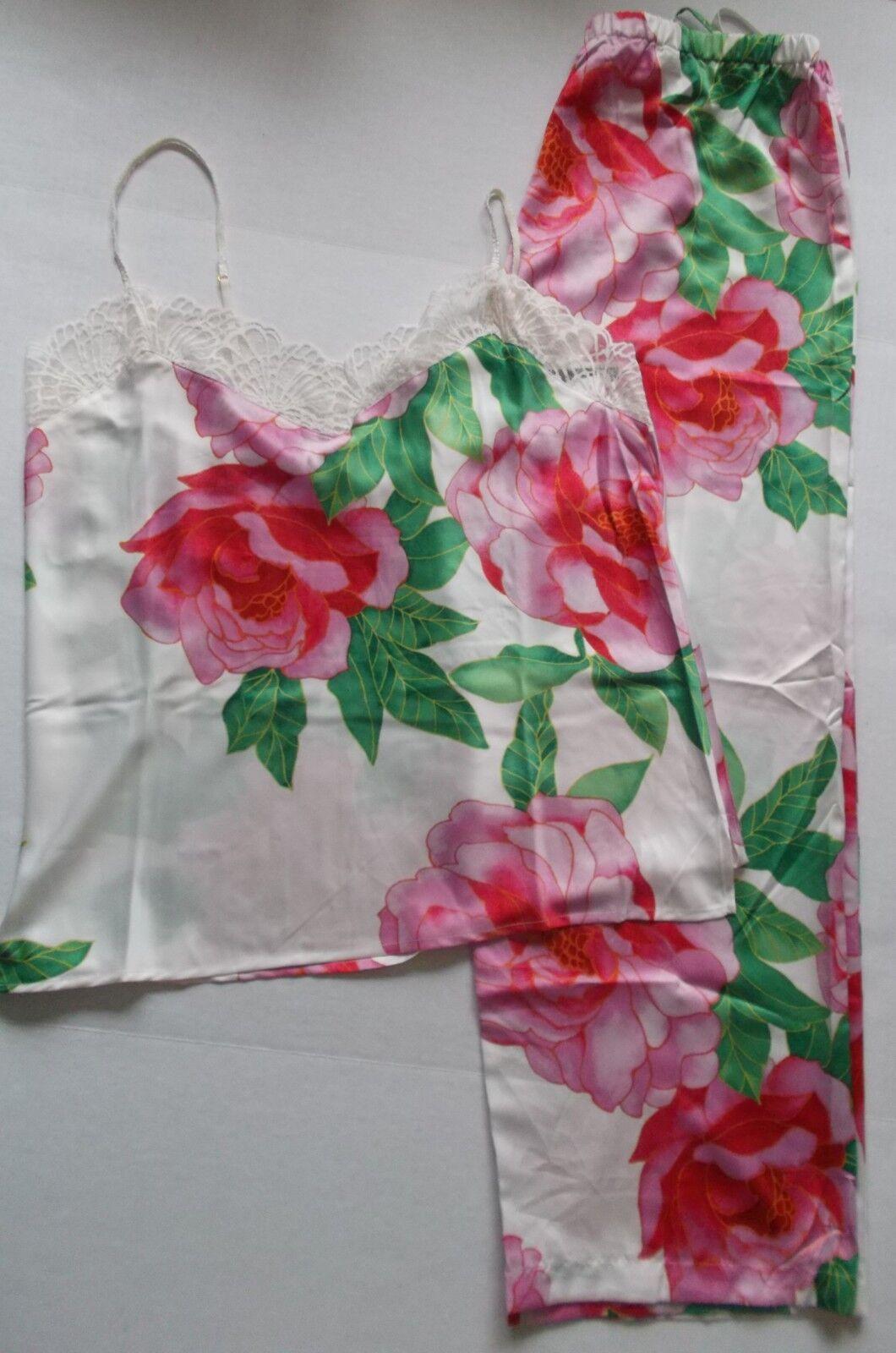 Neuf avec étiquettes Natori Private Luxuries Nouveau Pivoine Pyjama Set, Größe S, M  160