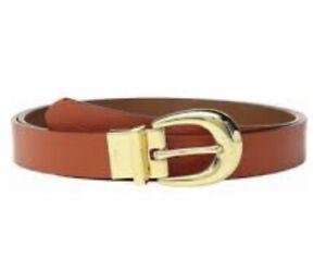 Reversible Leather Belt Orange