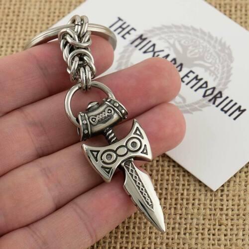 Skyrim Amulet of Talos Viking Sword Stainless Steel Keyring