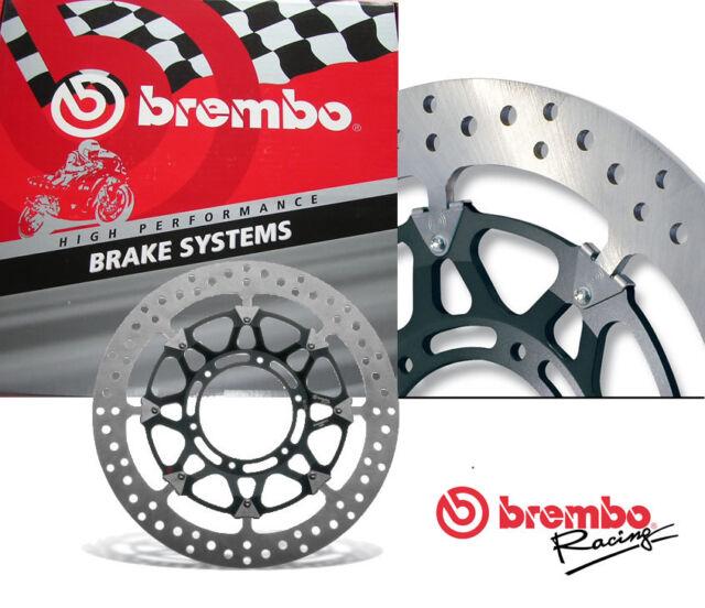 Rezo Wavy Stainless Front Brake Disc Pair For Triumph Daytona 675 06-12