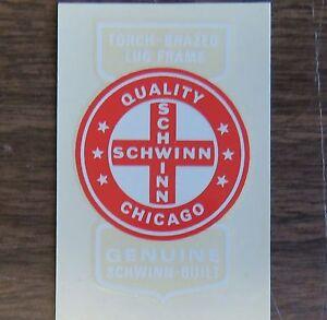Schwinn Decal Sticker Quality Cross Chicago for Seat Tube on Vintage Bike NEW