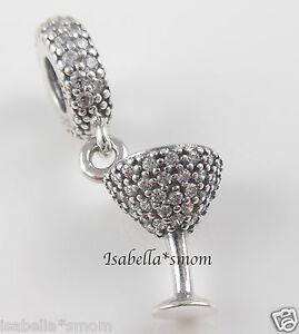 93b160cda NIGHT OUT DANGLE 100% Genuine PANDORA Silver~Zirconia COCKTAIL GLASS ...
