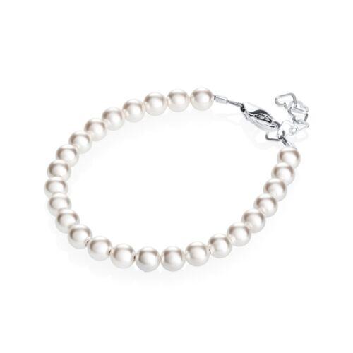 Baby Children's Bracelet with Swarovski White Pearls