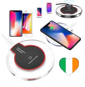 Wireless-Pad-Qi-di-ricarica-per-caricabatterie-per-iPhone-8-X-oltre-a-Samsung