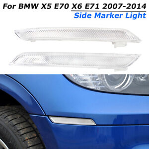 Avant-Cote-Marqueur-Reflecteur-Lumieres-Lampe-pour-BMW-X5-E70-X6-E71-2007-2014