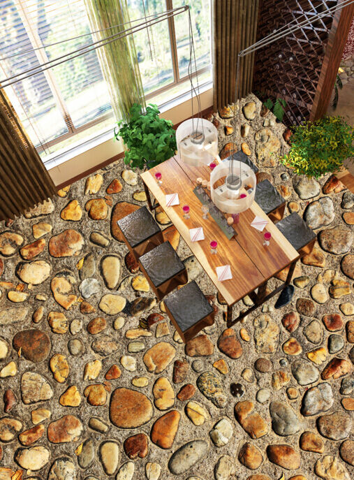 3D Clean Stone Stone Stone Road 436 Floor WallPaper Murals Wallpaper Mural Print AJ AU Lemon 285105