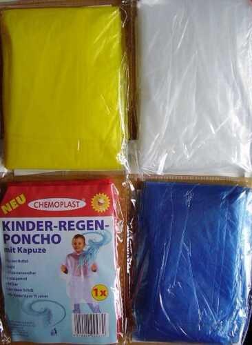 Notfall Regencape für Unterwegs 4 Farben zur Wahl Wundmed Kinder Regenponcho