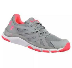 23f0ebfd17c8 NEW Women s Under Armour Shoes STRIVE 6 1274416-036 Gray Pink SAME ...