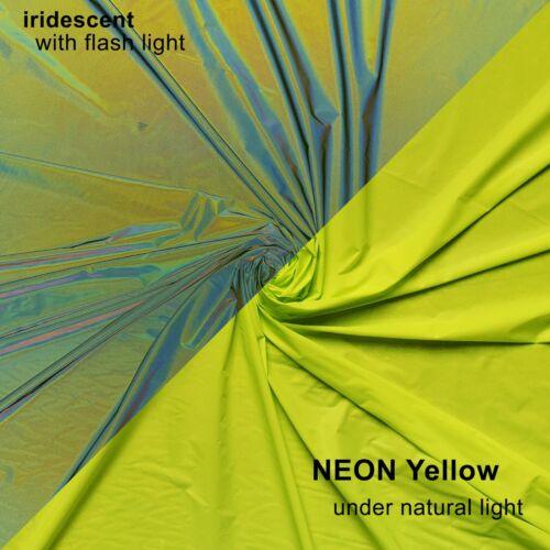 Soft High-Vis Iridescent rétro réfléchissant Rainbow tissus de couleurs différentes