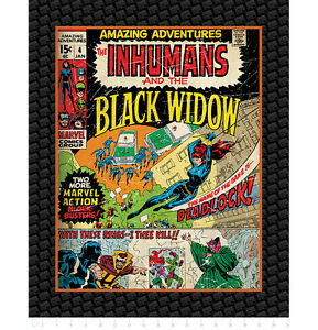 Marvel-III-Comics-Black-Widow-Camelot-100-Cotton-Fabric-by-the-panel