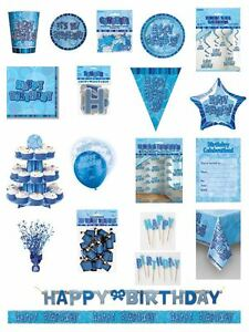 Happy-Birthday-Blue-Glitz-Party-Range-Party-Plates-Napkins-Banners-Cups