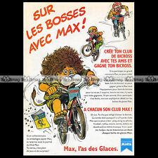 Glaces MOTTA 'Max et le Bicross' BMX 1990 - Pub / Publicité / Advert Ad #A870