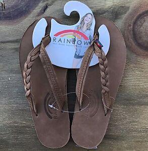 af5f72f8c266 Women Rainbow Sandals Flirty Braidy Strap Dark Brown Premier Leather ...