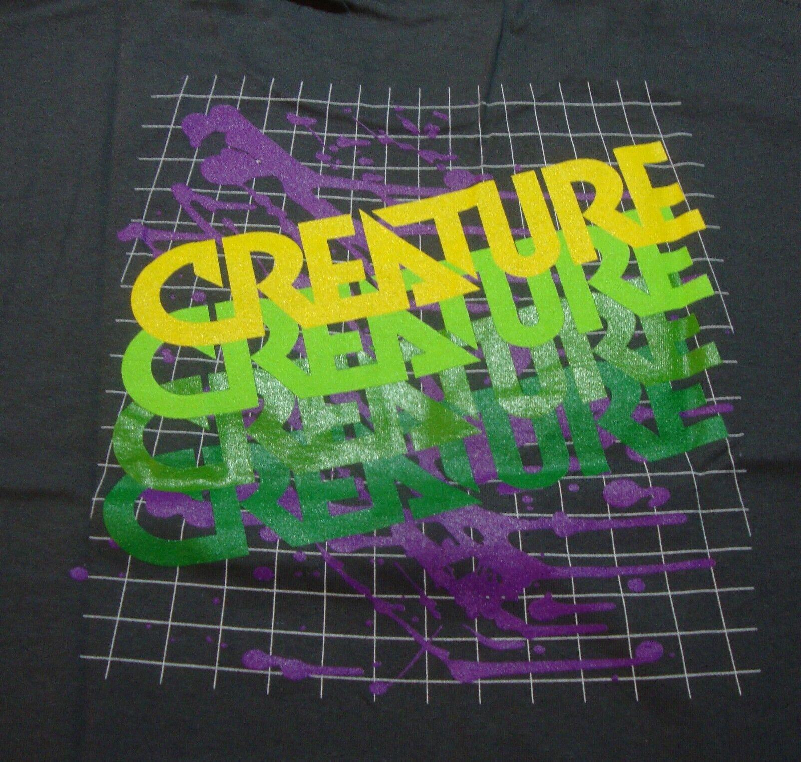 Creature - Verblassen - Skateboard Tee - Groß - Dunkelgrau - T-Shirt