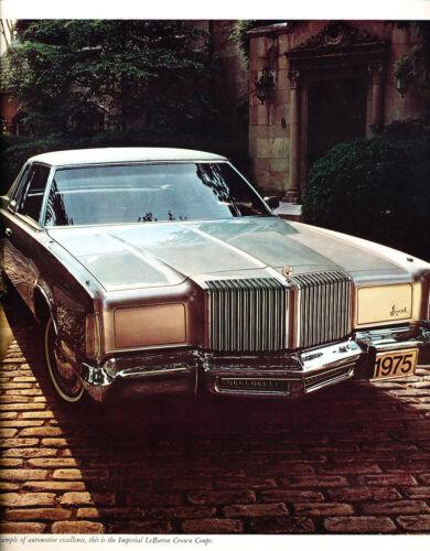 1975 Chrysler Imperial 16-page Grade-B  Car Sales Brochure Crown LeBaron