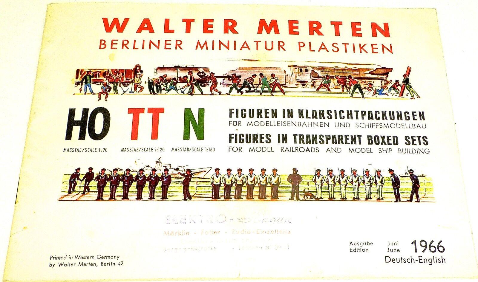 Walter Merten di Berlino Miniatura Plastiken Catalogo Giugno 1966 Tedesco