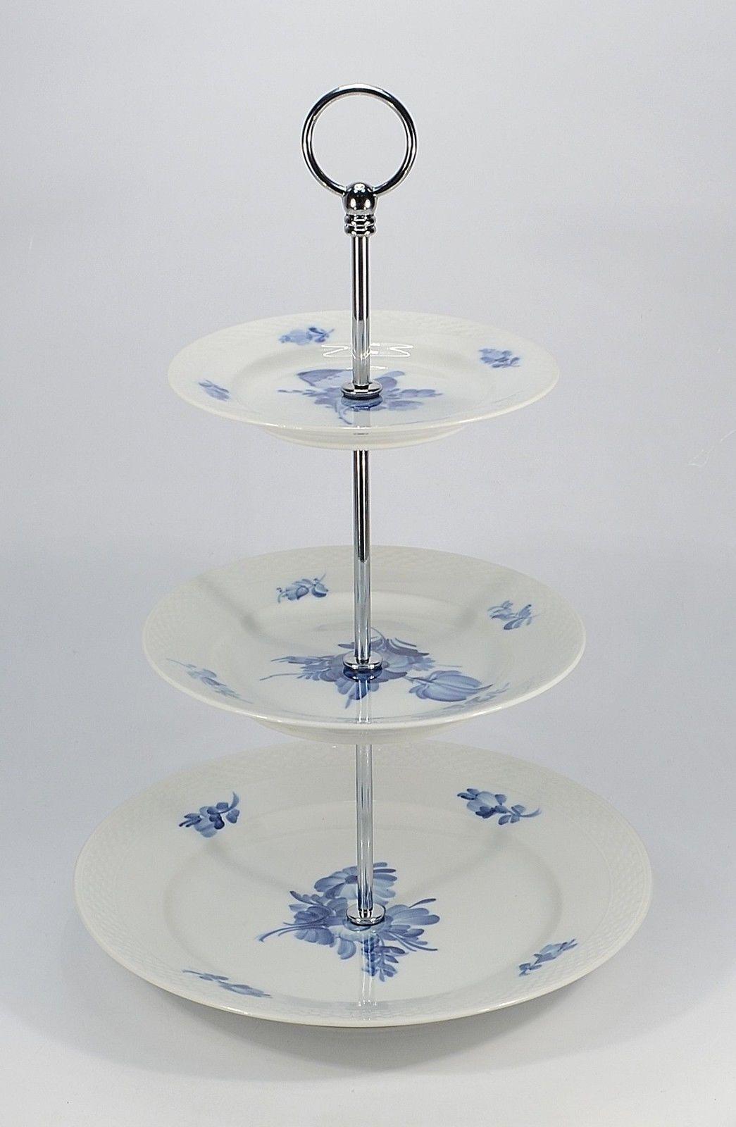 Royal Copenhagen   Fleur Bleue   Lisse   étagère 3 Niveaux