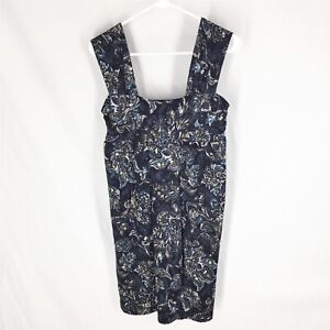 ANN-TAYLOR-LOFT-DRESS-SMALL-NEW-WITH-TAGS-Sleeveless-Stretch-Floral-Blue-NWT