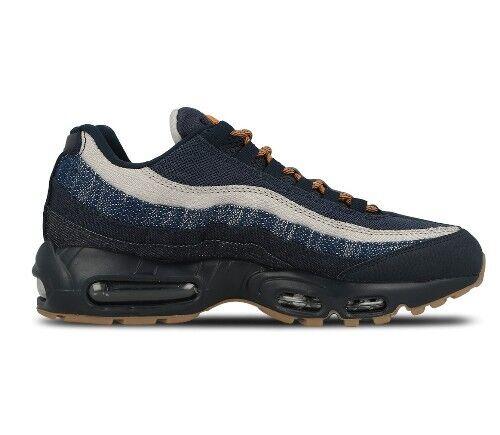 Hommes Nike Air Max 95 PRM Denim 538416 400 Obsidian/Granite/CIDRE UK 6.5 Exclusive
