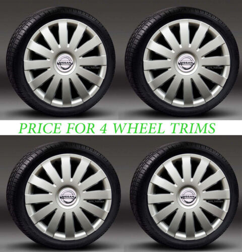 """Covers to fit Nissan Micra,Note,Almera Hub Caps 4x15/"""" wheel trims"""