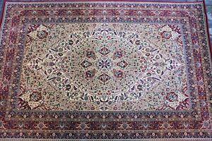 Orientalischer-Teppich-Kurzflor-Kollektion-034-Lotos-034-557-120-Rot-Beige-Ornamente