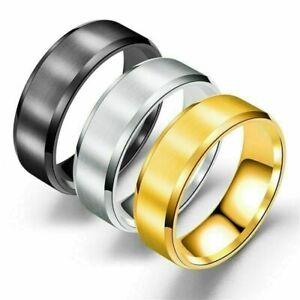 8mm-Men-Women-Couple-Titanium-Steel-Finger-Fashion-Wedding-Engagement-Rings