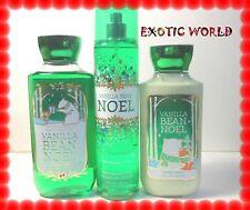 BATH AND BODY WORKS VANILLA BEAN NOEL - BODY MIST, LOTION & SHOWEL GEL *RARE*
