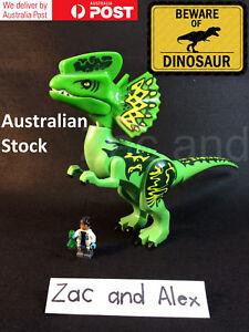 Jurassic Park//World Lego Dinosaur Dilophosaurus Figure