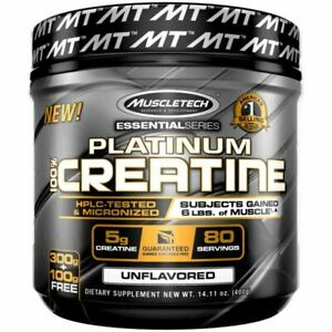MuscleTech Platinum Creatine Monohydrate 400g Powder - 80 Servings