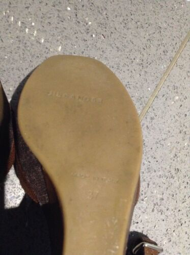 37 Sander Fabriqué Eur Uk Chaussures Peep Toe Italie En Compensées Jil 4 F8BqdwTz