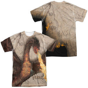 Authentic-The-Hobbit-Movie-Smaug-Attack-Poster-Sublimation-Front-Back-T-shirt