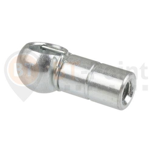 Bala sartén acero galvanizado b13 m8 LH din 71805 con fusible perchas rosca izquierda