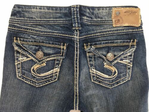 Silver Jeans Mid Rise Suki Surplus Flap Bootcut 24 25 26 27 28 29 30 31 33 34 38