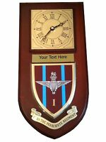 1 bn Parachute Regiment Personalised Military Wall Clock Plaque UK Made for MOD