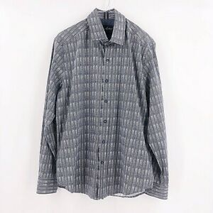 Robert-Graham-Mens-Size-Large-Tailored-Fit-Long-Sleeve-Button-Down-Shirt