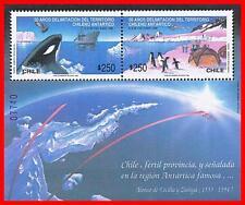 Chile 1990 POLAR ANIMALS & BIRDS S/S SC#934a MNH PENGUINS, WHALES, SHIPS