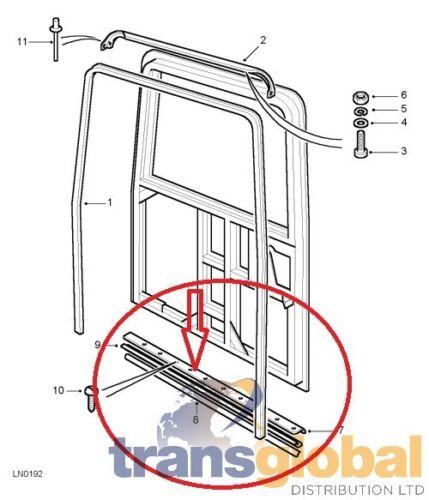 Sigillo sportello in gomma posteriore /& Nero Piastra Per Land Rover Defender-ALR4769