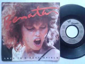 "Pat Benatar / Love Is A Battlefield 7"" Vinyl Single 1983 mit Schutzhülle"
