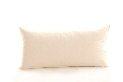 """100/% DUCK FEATHER FILLED BOLSTER PILLOWS LUXURY 20 x 19/"""" x 54/"""""""