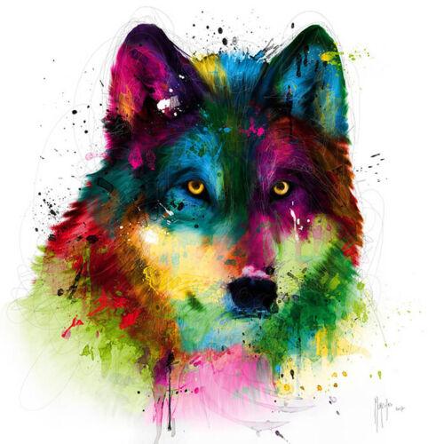 WOLF BY PATRICE MURCIANO POP ART PRINT KEYRINGS-MUGS-ART PRINT